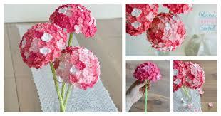 Hydrangea Flowers Crochet Hydrangea Flower With Free Pattern