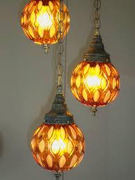 vintage 60 u0027s art deco opal lustre acorn glass swag lamp lighting