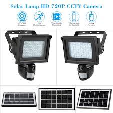 security light with camera built in 40 ir leds solar floodlight street l 720p hd cctv security camera