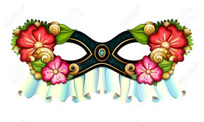 mardi gras carnival costumes vector ornate mardi gras carnival mask with decorative flowers la