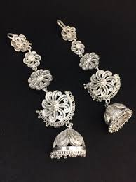 kaan earrings shop traditional kaan phool earrings online in india silver linings
