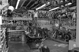 old photos thread page 1583 yellow bullet forums cars and pin up motorcycle garage cool workshops