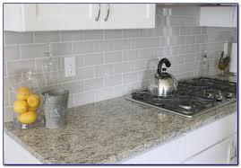 Gray Glass Subway Tile Backsplash - grey glass subway tile canada tiles home decorating ideas