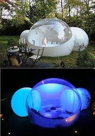 Backyard Camping Ideas Outdoor Inflatable Bubble Tent With 2 Tunnels Family Backyard