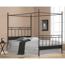 size canopy bed frame cara black metal size canopy bed free shipping today