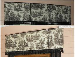 no sew window treatment pelmet cornice box valance