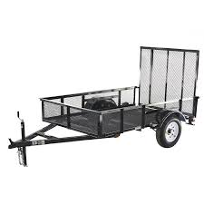 shop carry on trailer 5 ft x 8 ft wire mesh utility trailer with