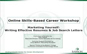 Online Resume Cover Letter by Resumes Cover Letters And More Career Development Babson College