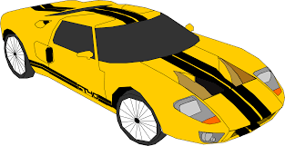 cartoon sports car yellow sports car clipart clipartxtras