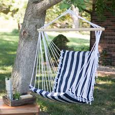 How To Make A Brazilian Hammock The Ultimate Padded Mesh Hanging Chair Navy Stripes Hayneedle