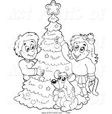 tree trimming black and white clipart