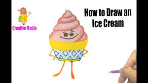 ice cream emoji how to draw an ice cream pages kid drawing learn colors the