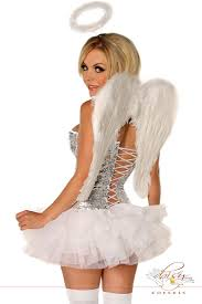 Glitter Halloween Costumes 4 Pc Glitter Angel Costume Amiclubwear Costume Store