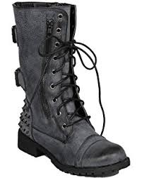 womens combat boots size 12 amazon com shenn s toe knee high