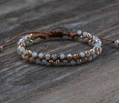 adjustable bead bracelet images New bling half plating crystal wax cord braided bead bracelet jpg