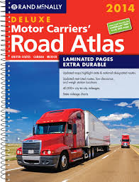 Truck Route Maps 2014 Deluxe Motor Carriers U0027 Road Atlas Dmcra Laminated Rand