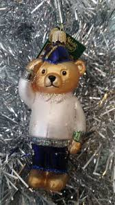 sailor navy glass ornament teddy saluting