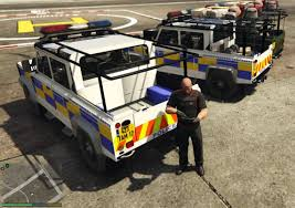 land rover psni land rover defender 110 pickup irish police unlocked gta5 mods com