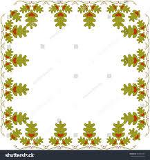 abstract frame oak leaves hearts oak stock vector 543992209