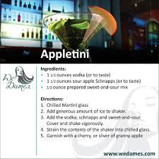 apple martini with cherry classic appletini wedames