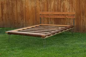 hairpin leg bed arbor exchange reclaimed wood furniture platform