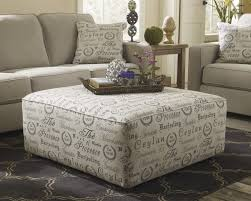 How To Reupholster Accent Living Room Chair Ashley 1660008 Alenya Quartz Print Fabric Upholstery Oversized Ottoman