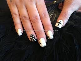 21 black and white nail designs stiletto nail art