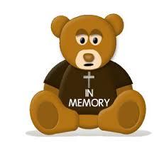 In Memory Of Gifts Personalised In Loving Memory Rest In Peace Personalised Teddy Bears