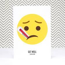 get well soon cards emoji get well soon card by of lemons