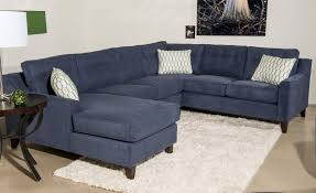 Navy Sectional Sofa Contemporary 3 Sectional Sofa With Chaise By Klaussner