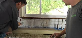 Installing Tile Backsplash How To Install A Ceramic Tile Backsplash Construction U0026 Repair