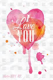 valentines day poster heart with i love you inscription vector