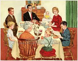 at thanksgiving dinner