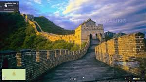 Google Wall by Great Wall Of China Via Google Setllite Map Youtube