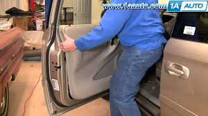 how to install replace remove front door panel chrysler town and