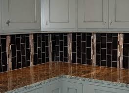 glass tile backsplash kitchen great home decor contemporary