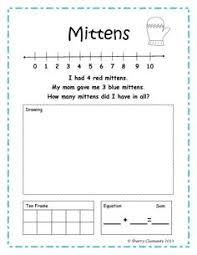 freebie 5 pages addition word problem number line drawing
