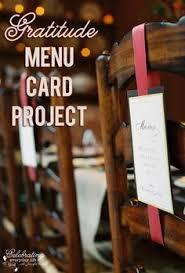 gratitude menu card project thanksgiving crafts menu cards