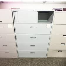 Lateral File Cabinet With Storage Used 4 Drawer Lateral File Cabinet With Top Storage Grey Fil1494