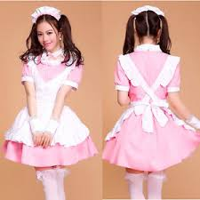 japanese french cosplay dress pink maid halloween