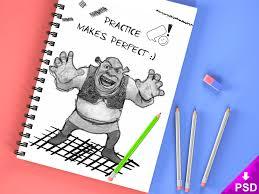21 fantastic psd hand drawn sketch book mockups for free download