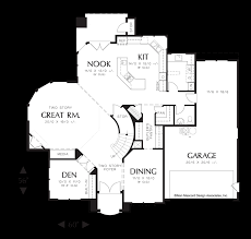 mascord house plan 2368 the sedgwick image for sedgwick curved wall of glass in great room main floor plan