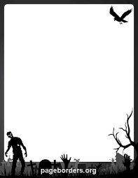 free printable zombie images printable zombie border use the border in microsoft word or other