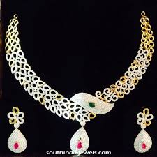gold stone necklace images Gold fancy necklace and earrings south india jewels jpg