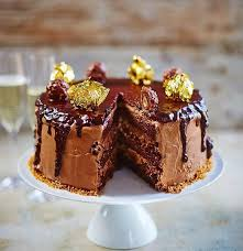 ferrero rocher cake chocolate sponge sandwiched between hazelnut