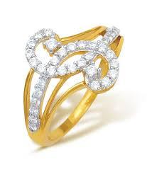 s ring ishtaa hallmarked 18kt yellow gold s shape cz ring buy ishtaa