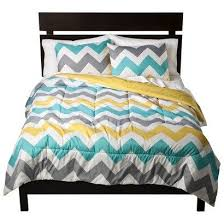Dahlia 5 Piece Comforter And by Gray White Yellow Turquoise Chevron Zig Zag Full Comforter And