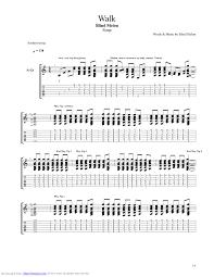Blind Chords Walk Guitar Pro Tab By Blind Melon Musicnoteslib Com