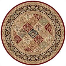 Area Rugs Manchester Nh by Tayse Rugs Sensation Red 5 Ft 3 In Traditional Octagon Area Rug