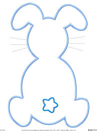 bunny rabbit template easter cut out and outline litle pups